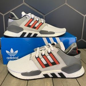 Adidas EQT Support 91/18 Grey Hi-Res Red Sneakers